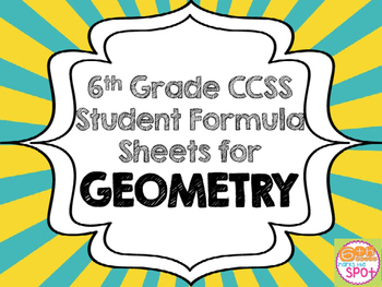 6th grade geometry common core worksheets