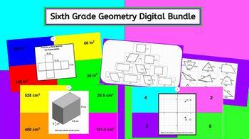 6th Grade Geometry Interactive Digital Bundle