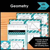 6th Grade Geometry Math Task Cards