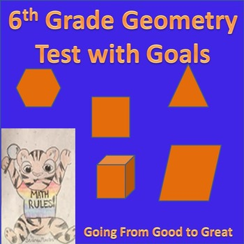 6th Grade Geometry Math Test with Goals