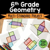 6th Grade Geometry Project with Nets and Surface Area