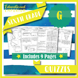 6th Grade Geometry Quizzes: Geometry, 6th Grade Math Assessments