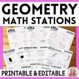 6th Grade Math Geometry Stations: 6.G.1, 6.G.2, 6.G.3, 6.G.4