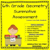 6th Grade Math -Geometry Summative Assessment - Common Core Aligned