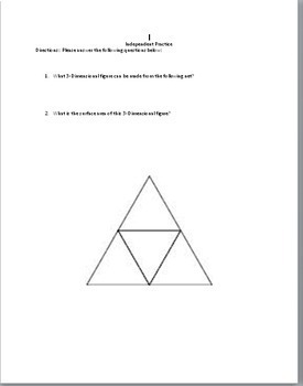 6th Grade Geometry:  Surface Area of Tetrahedrons