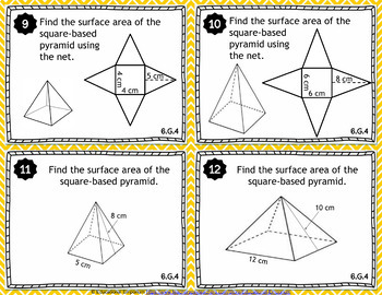 6th Grade Geometry Task Cards: Geometry, 6th Grade Math Task Cards