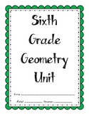 6th Grade Geometry Unit (Bundle)