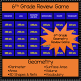 6th Grade Geometry Unit - Game Show Review Game