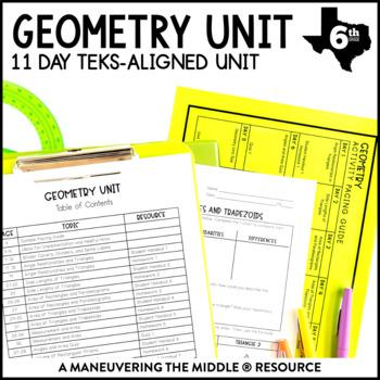 6th Grade Geometry Unit: TEKS