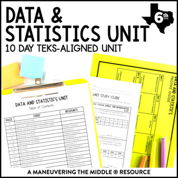 6th Grade Data and Statistics Unit: TEKS