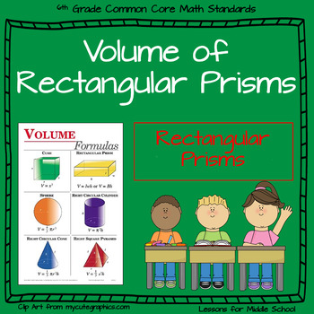 6th Grade Geometry:  Volume of Rectangular Prisms