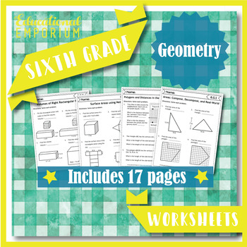 6th Grade Geometry Worksheets: Geometry, 6th Grade Math Worksheets