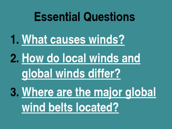 6th Grade Georgia Earth Science - Winds PowerPoint