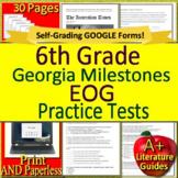 6th Grade Georgia Milestones Test Prep EOG Practice Tests for GMAS Language Arts