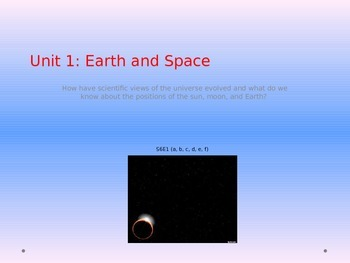6th Grade Georgia Performance Standards Science Unit 1 Earth and Space