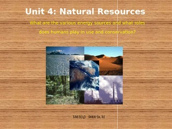 Earth Science Unit 4 Resources