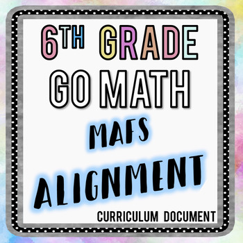 6th Grade Go Math FSA Alignment Document