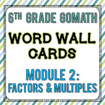 6th Grade Go Math Module 2 Word Wall