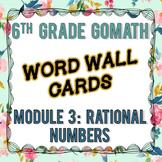 6th Grade Go Math Module 3 Word Wall