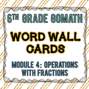 6th Grade Go Math Module 4 Word Wall