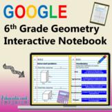 6th Grade Google Math Interactive Notebook, Digital: Geometry Domain
