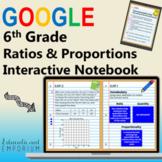 6th Grade Interactive Notebook, Math: RP Domain ⭐ for Google Classroom™