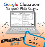 6th Grade Math Assessments ⭐ Digital Math Quizzes for Google Classroom™