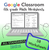 Math Worksheets ⭐ 6th Grade Digital Practice for Google Classroom™