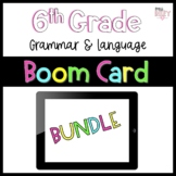 6th Grade Grammar Distance Learning Boom Cards