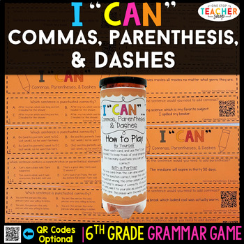 6th Grade Grammar Game | Punctuation: Commas, Parentheses, & Dashes