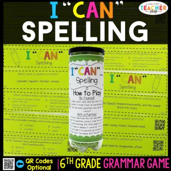6th Grade Grammar Game | Spelling
