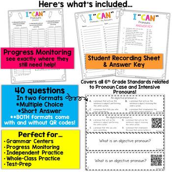 6th Grade Pronouns Game | Subjective, Objective, Possessive, Intensive Pronouns