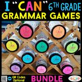 6th Grade Grammar Games | Literacy Centers | Test Prep Review