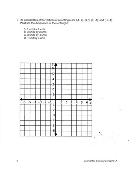 6th Grade Graphing Test Practice