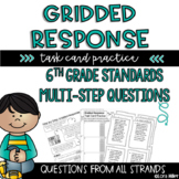Test Prep--6th Grade Gridded Response Task Card Practice--Multi-Step Questions