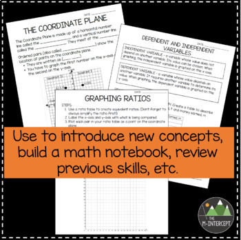 6th Grade Guided Math Notes - Alligned to Common Core Standards
