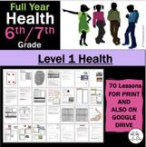 6th Grade Teen Health Middle School / 7th Grade Jr. High: