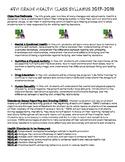6th Grade Health Syllabus - Example