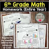 6th Grade Math Homework (Entire Year)