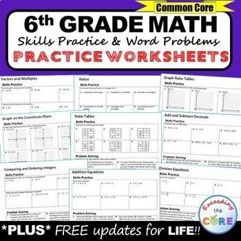 th grade homework math worksheets skills practice  word problems