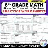 6th Grade Homework Math Worksheets Skills Practice & Word Problems