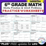 6th Grade Homework Math Worksheets Skills Practice & Word Problems (Assessments)