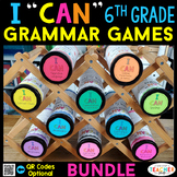6th Grade I CAN Grammar Games | Test Prep Review | BUNDLE