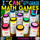6th Grade I CAN Math Games BUNDLE | Test Prep Review