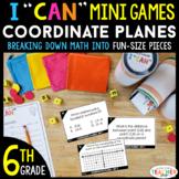 6th Grade I CAN Mini Math Games | Coordinate Planes | 4 Games