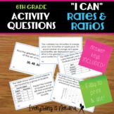 """6th Grade """"I Can"""" Ratio - Activity Questions"""