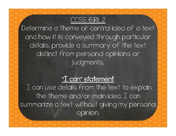 "6th Grade ""I Can"" statements"