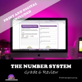 The Number System Review | Grades 6 | Digital Version Included