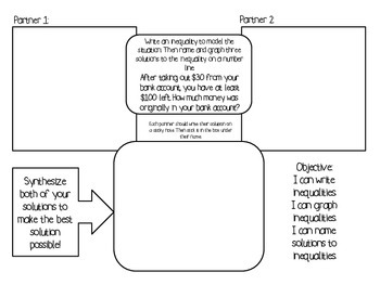 6th Grade Inequalities Collaborative Learning Pack
