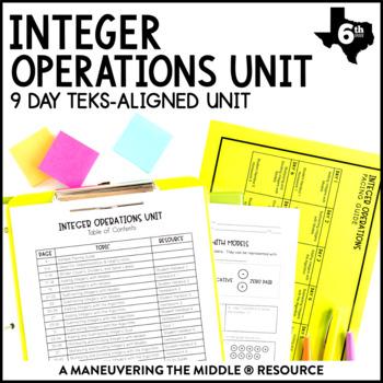6th Grade Integer Operations Unit: TEKS 6.3C, 6.3D